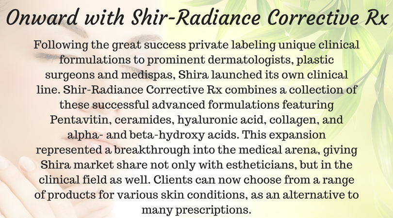 Onward with Shir-Radiance Corrective Rx